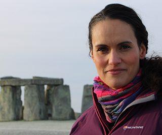 Mary-Ann Ochota at Stonehenge
