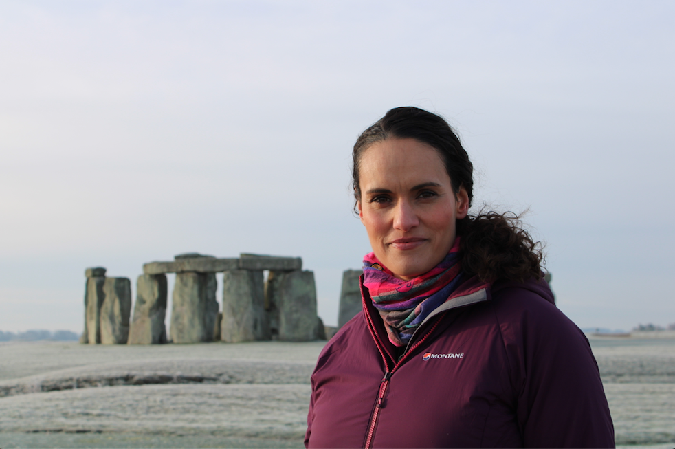 Mary-Anne Ochata at Stonehenge.