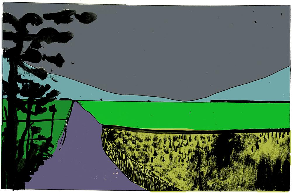 Black Sky, Weather, Acid Green