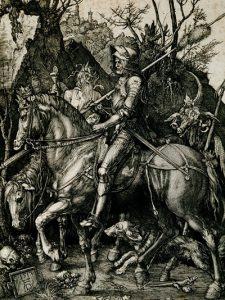 'Knight, Death and Devil', Albrecht Dürer, engraving, 1513