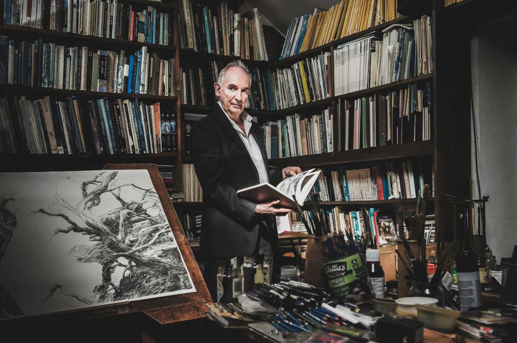 Alan Lee in his studio