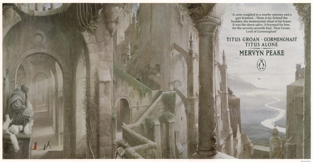 Mervyn Peake's Gormenghast Trilogy, cover by Alan Lee