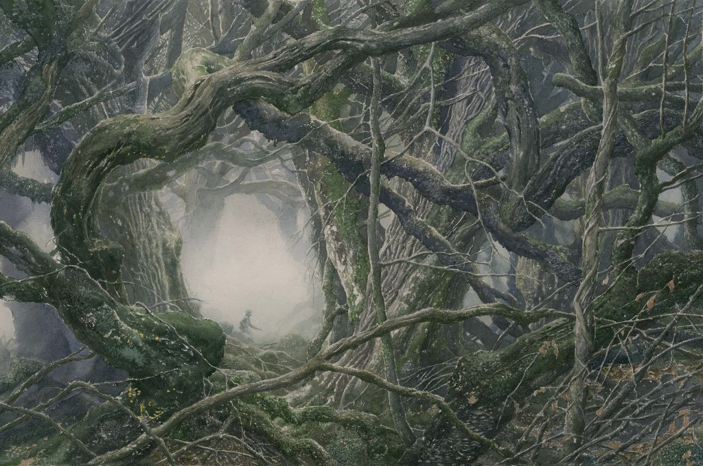 Mirkwood, from the Hobbit Sketchbook. Alan Lee