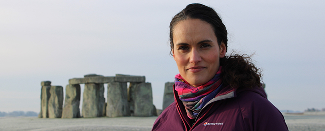 Mary-Ann Ochota at Stonehenge