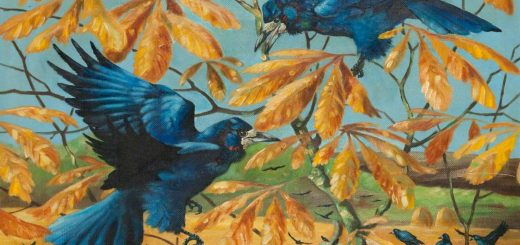 'Rooks amongst Branches', Ralston Gudgeon (1910-1984), oil on canvas.