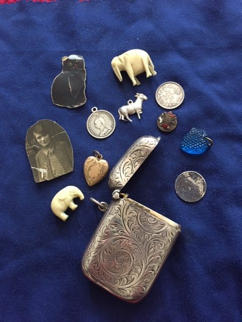 Match holder and treasures